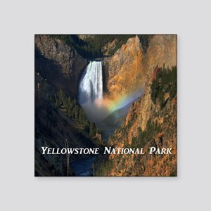 "Yellowstone National Park Square Sticker 3"" x 3"""