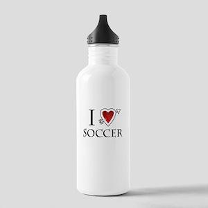i love soccer heart Stainless Water Bottle 1.0L