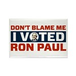 I Voted For Ron Paul Rectangle Magnet (10 pack)