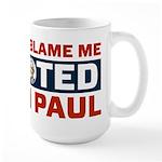 I Voted For Ron Paul Large Mug