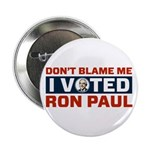 """I Voted For Ron Paul 2.25"""" Button"""
