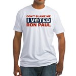 I Voted For Ron Paul Fitted T-Shirt