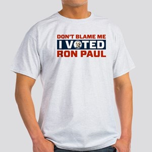 I Voted For Ron Paul Light T-Shirt