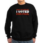 I Voted For Ron Paul Sweatshirt (dark)