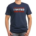 I Voted For Ron Paul Men's Fitted T-Shirt (dark)