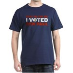 I Voted For Ron Paul Dark T-Shirt