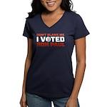 I Voted For Ron Paul Women's V-Neck Dark T-Shirt