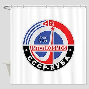 Interkosmos Shower Curtain