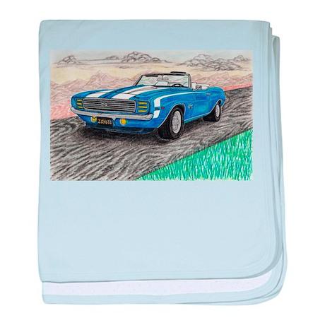 The Classic 1969' Camaro SS 396' baby blanket