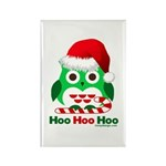 Christmas Owl Hoo Hoo Hoo Rectangle Magnet (100 pa