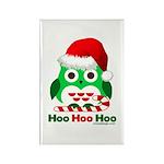 Christmas Owl Hoo Hoo Hoo Rectangle Magnet (10 pac