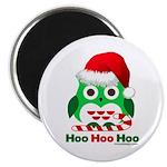 Christmas Owl Hoo Hoo Hoo Magnet