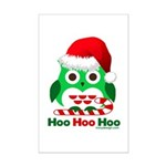 Christmas Owl Hoo Hoo Hoo Mini Poster Print