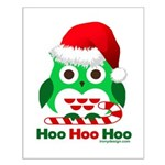 Christmas Owl Hoo Hoo Hoo Small Poster