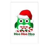 Christmas Owl Hoo Hoo Hoo Postcards (Package of 8)