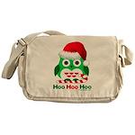 Christmas Owl Hoo Hoo Hoo Messenger Bag