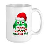 Christmas Owl Hoo Hoo Hoo Large Mug