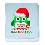 Christmas Owl Hoo Hoo Hoo baby blanket