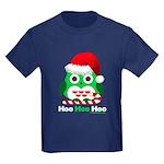 Christmas Owl Hoo Hoo Hoo Kids Dark T-Shirt