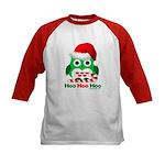 Christmas Owl Hoo Hoo Hoo Kids Baseball Jersey
