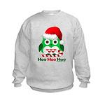 Christmas Owl Hoo Hoo Hoo Kids Sweatshirt