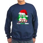 Christmas Owl Hoo Hoo Hoo Sweatshirt (dark)