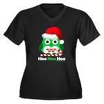 Christmas Owl Hoo Hoo Hoo Women's Plus Size V-Neck