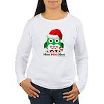 Christmas Owl Hoo Hoo Hoo Women's Long Sleeve T-Sh