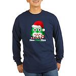 Christmas Owl Hoo Hoo Hoo Long Sleeve Dark T-Shirt