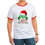 Christmas Owl Hoo Hoo Hoo Ringer T