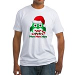 Christmas Owl Hoo Hoo Hoo Fitted T-Shirt