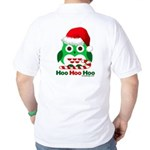 Christmas Owl Hoo Hoo Hoo Golf Shirt