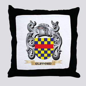Clifford Family Crest - Clifford Coat Throw Pillow