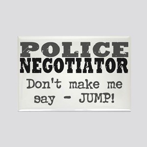 Police Negotiator Rectangle Magnet