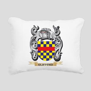 Clifford Family Crest - Rectangular Canvas Pillow
