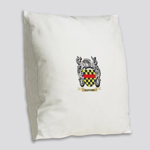Clifford Family Crest - Cliffo Burlap Throw Pillow