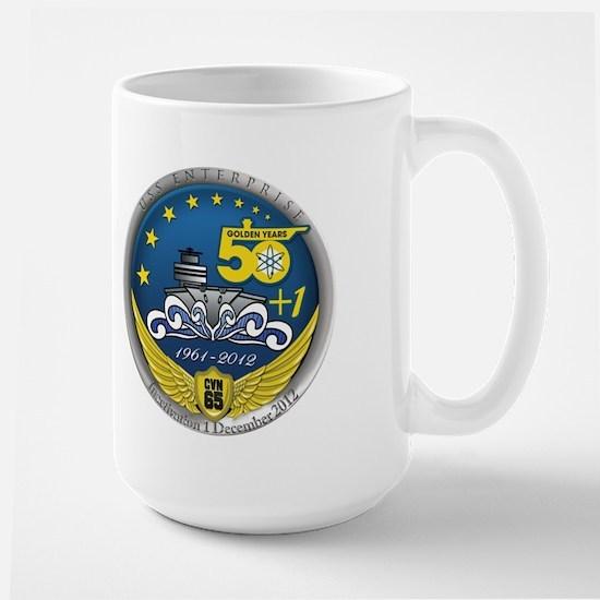 CVN 65 Inactivation! Large Mug