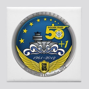 CVN 65 Inactivation! Tile Coaster