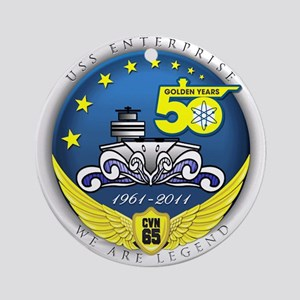 USS Enterprise At 50! Ornament (Round)
