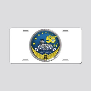 CVN 65 Inactivation! Aluminum License Plate