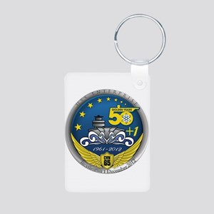 CVN 65 Inactivation! Aluminum Photo Keychain