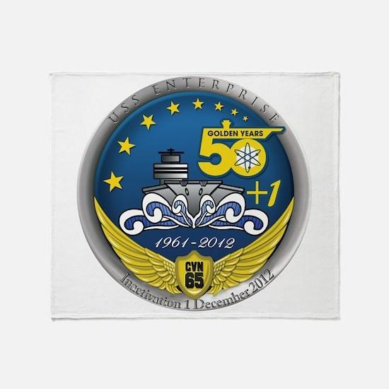 CVN 65 Inactivation! Throw Blanket