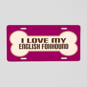 English Foxhound Aluminum License Plate