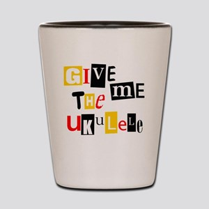 Ukulele Ransom Note Shot Glass
