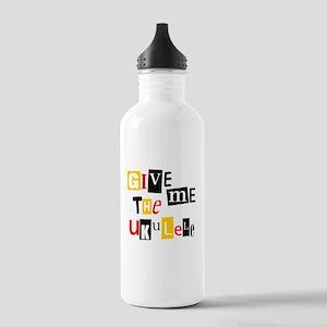 Ukulele Ransom Note Stainless Water Bottle 1.0L