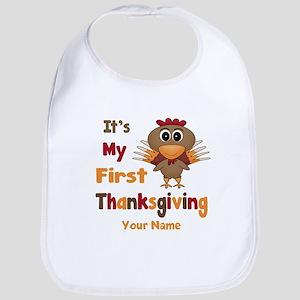 First Thanksgiving Personalized Bib