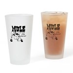 ANGRY MULE Drinking Glass