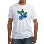 Blueberries Fitted T-Shirt