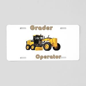 The Grader Aluminum License Plate