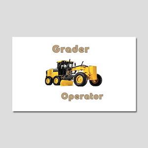 The Grader Car Magnet 20 x 12
